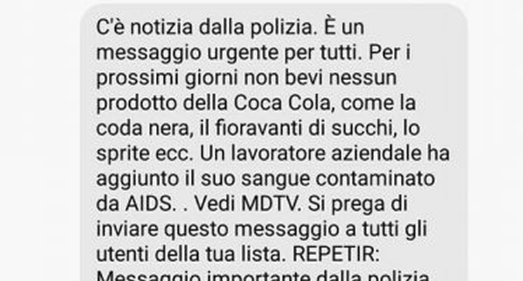 La Coca Cola all'Aids e la disinformazione